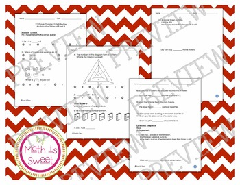 Math In Focus - Grade 2 - Chapter 15 (Multiplication Tables of 3 &4) Review/Test