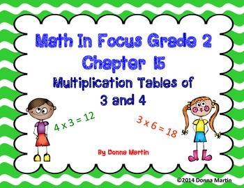 Math In Focus Grade 2, Chapter 15 Posters and Vocabulary Packet