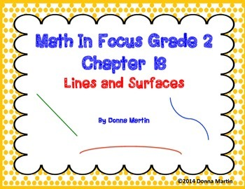 Math In Focus Grade 2, Chapter 18 Posters and Vocabulary Packet