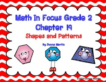 Math In Focus Grade 2, Chapter 19 Posters and Vocabulary Packet