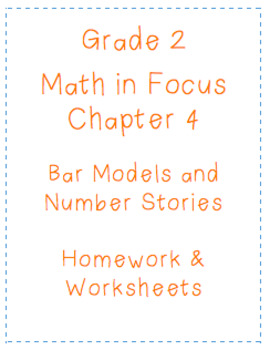 Math In Focus Grade 2 Chapter 4 Bar Models Homework Worksheets CGI
