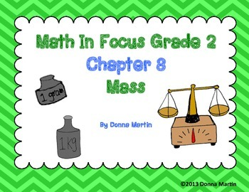 Math In Focus Grade 2, Chapter 8 Posters and Vocabulary Packet