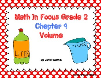 Math In Focus Grade 2, Chapter 9 Posters and Vocabulary Packet