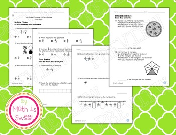 Math In Focus - Grade 3 - Chapter 14 (Fractions) Review/Test