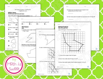 Math In Focus - Grade 3 - Chapter 17 (Angles and Lines) Review/Test