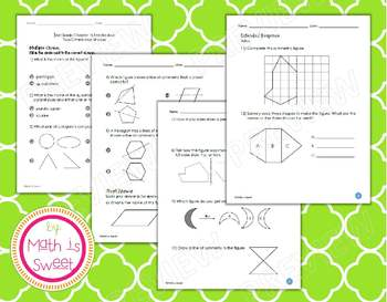 Math In Focus - Grade 3 - Chapter 18 (2-D Shapes) Review/Study Guide/Test
