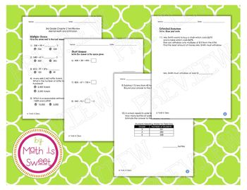 Math In Focus - Grade 3 - Chapter 2 (Mental Math and Estimation) Review/Test