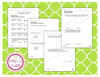 Math In Focus - Grade 3 - Chapter 3 (Addition up to 10,000) Review/Test