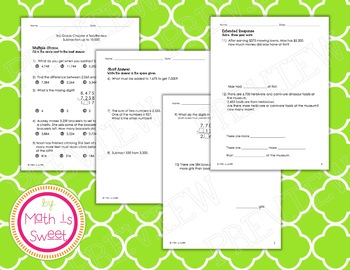 Math In Focus - Grade 3 - Chapter 4 (Subtraction up to 10,000) Review/Test
