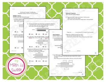 Math In Focus - Grade 3 - Chapter 5 (Bar Models: + and -) Review/Test