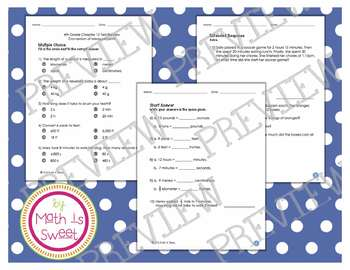 Math In Focus - Grade 4 - Chapter 12 (Conversion of Measurements) Review/Test