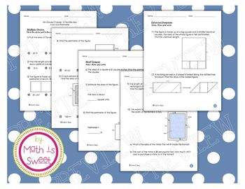 Math In Focus - Grade 4 - Chapter 13 (Area and Perimeter) Review/Test