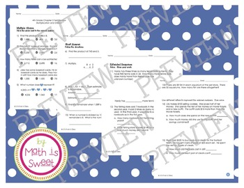 Math In Focus - Grade 4 - Chapter 3 (Mult. and Div.) Review/Test