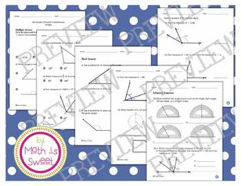 Math In Focus - Grade 4 - Chapter 9 (Angles) Review/Test