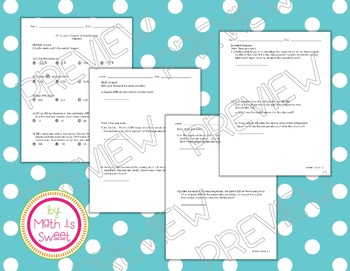 Math In Focus - Grade 5 - Chapter 10 (Percent) Review/Study Guide/Test