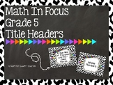 Math In Focus Headers