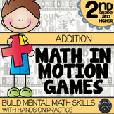 Math In Motion - Second Grade Hands-On Math Games - Addition