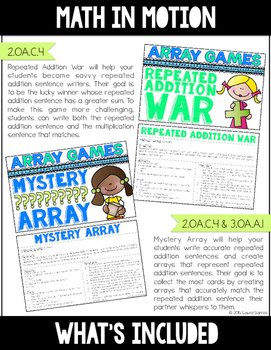Math In Motion - Arrays and Multiplication - Hands-On Math Games