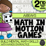 Math In Motion - Second Grade Arrays and Multiplication - Hands-On Math Games