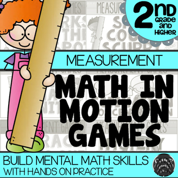 Math In Motion - Second Grade Hands-On Math Games - Measurement | TpT