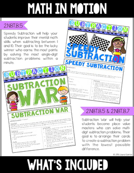 Math In Motion - Hands-On Math Games - Subtraction