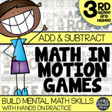 Math In Motion - Third Grade Hands-On Math Games - Addition and Subtraction