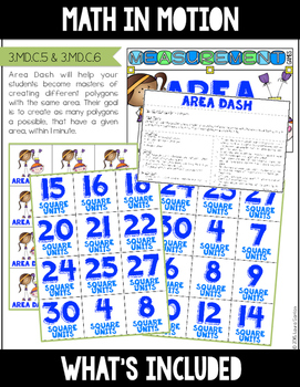 Math In Motion - Third Grade Hands-On Math Games - Area and Perimeter