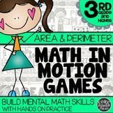 3rd Grade Area & Perimeter Math Games | Hands-On Learning for Workshop & Centers