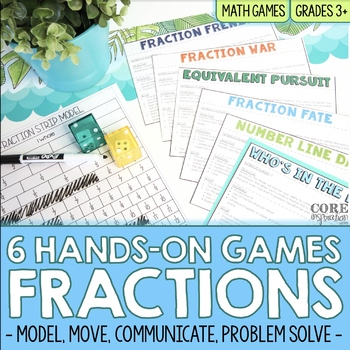 Math In Motion - Third Grade Hands-On Math Games - Fractions