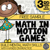 Math In Motion - Third Grade Hands-On Math Games - Free Sample