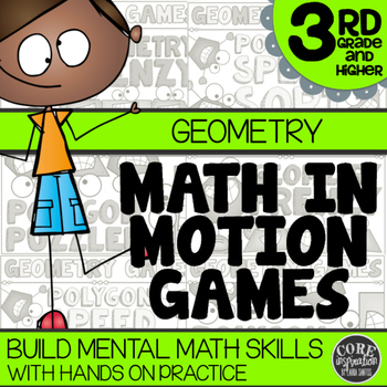 Math In Motion - Third Grade Hands-On Math Games - Geometry