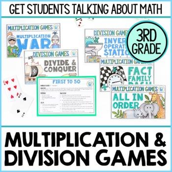 Math In Motion - Third Grade Hands-On Math Games - Multiplication ...