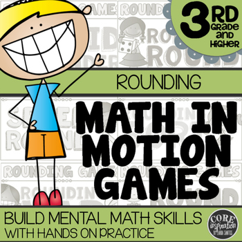 Math In Motion - Third Grade Hands-On Math Games - Rounding