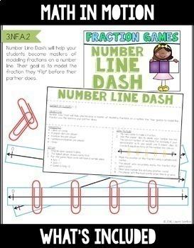 Math In Motion - Third Grade Hands-On Math Games - Year Long Bundle