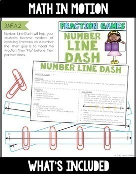 Math In Motion - Third Grade Hands-On Math Games - Year Long Bundle