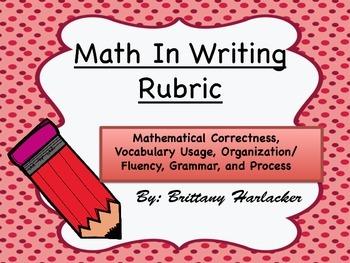 Math In Writing Rubric