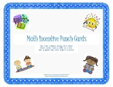 Math Incentive Punch Cards
