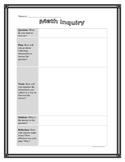 Math Inquiry Graphic Organizer Common Core