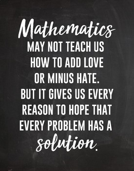 Math Inspirational Quote Poster By Designs111 Teachers Pay Teachers