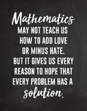 Math Inspirational Quote Poster