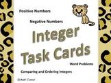 Math:  Integer Task Cards
