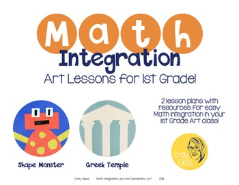 Math Integration Lessons for Visual Art- First Grade