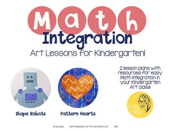 Math Integration Lessons for Visual Art- Kindergarten