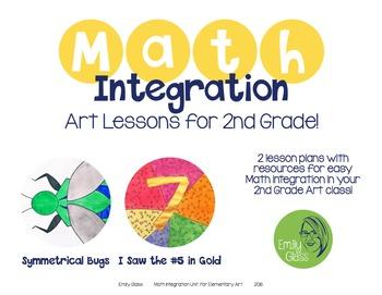 Math Integration Lessons for Visual Art- Second Grade