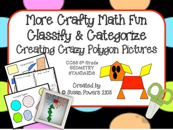 Math Interactive Activity Categorizing Polygons with Crazy
