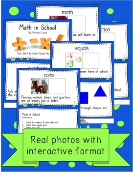 Math Interactive Book and Song