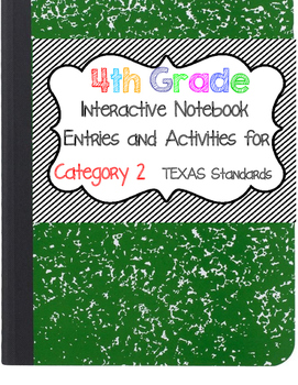 Math Interactive Notebook 4th Grade Texas Standards 2 By Ortega Math