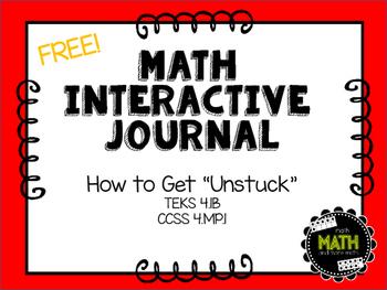 Math Interactive Journal {FREEBIE} - Feeling Stuck?