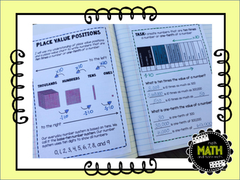 Math Interactive Journal {FREEBIE} - Place Value Positions