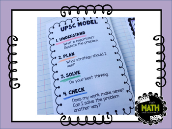Math Interactive Journal {FREEBIE} - Problem-Solving Model